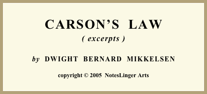 CARSON'S  LAW